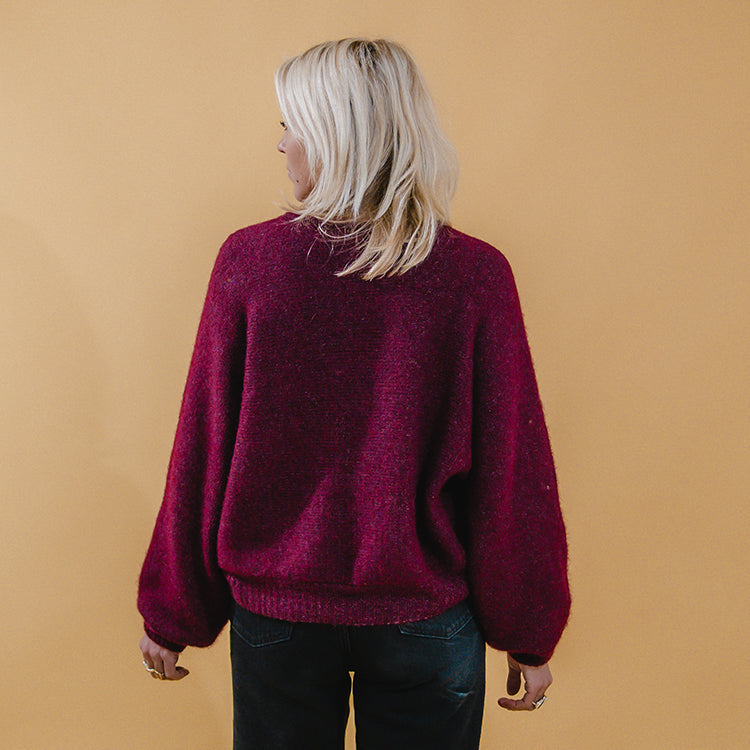 American Vintage Bordeaux Short East Jumper