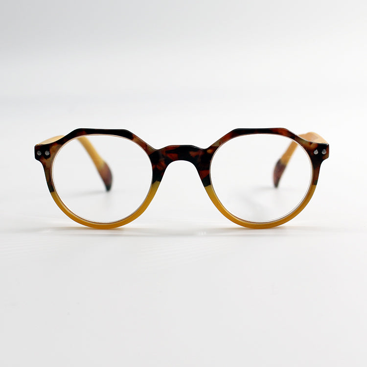 Keaton Tortoiseshell Mustard Reading Glasses