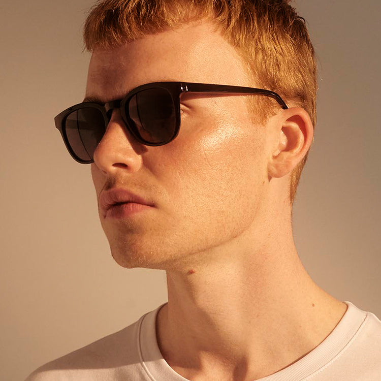 A.Kjærbede Bate Black Sunglasses
