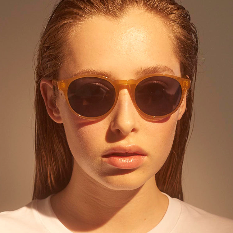 A.Kjærbede Yellow Transparent Marvin Sunglasses