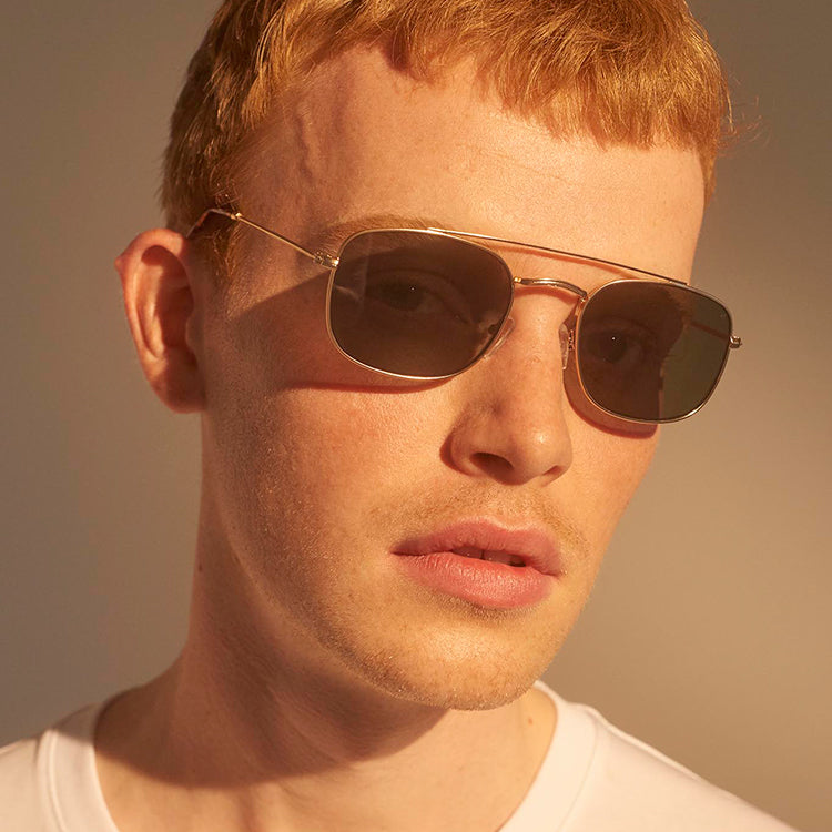 A.Kjærbede Gold Toby Sunglasses