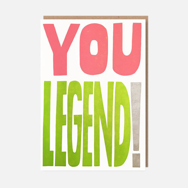1973 You Legend Greetings Card