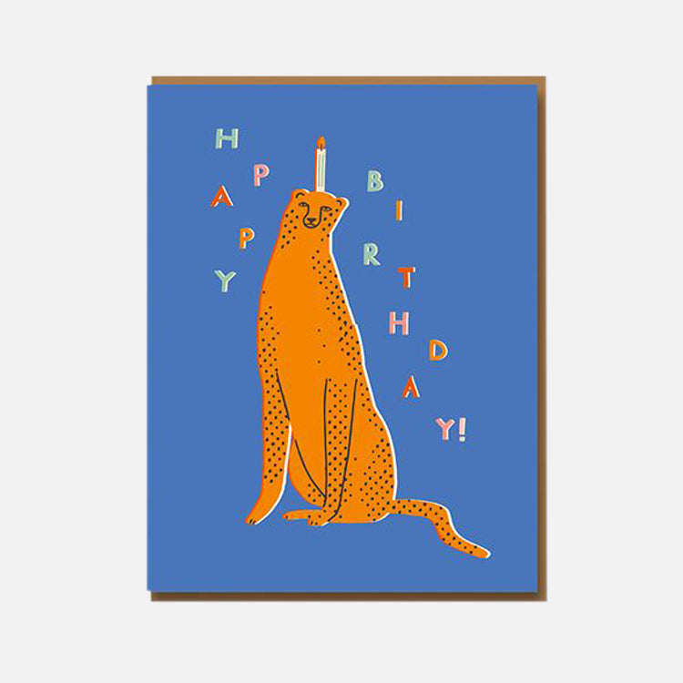 Taisiia Kordiukova Birthday Leopard Greetings Card