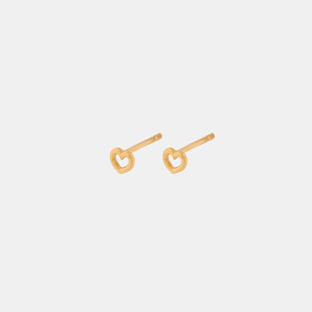 Pernille Corydon Gold Love 4mm Earsticks