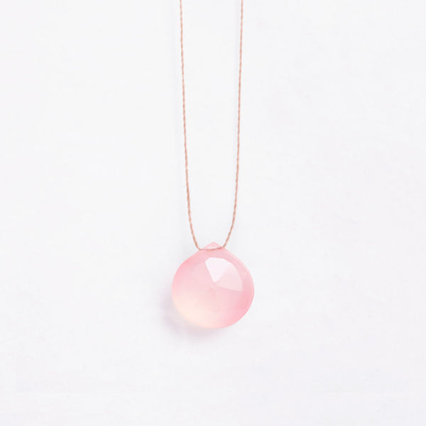 Wanderlust Life Pale Pink Chalcedony Necklace