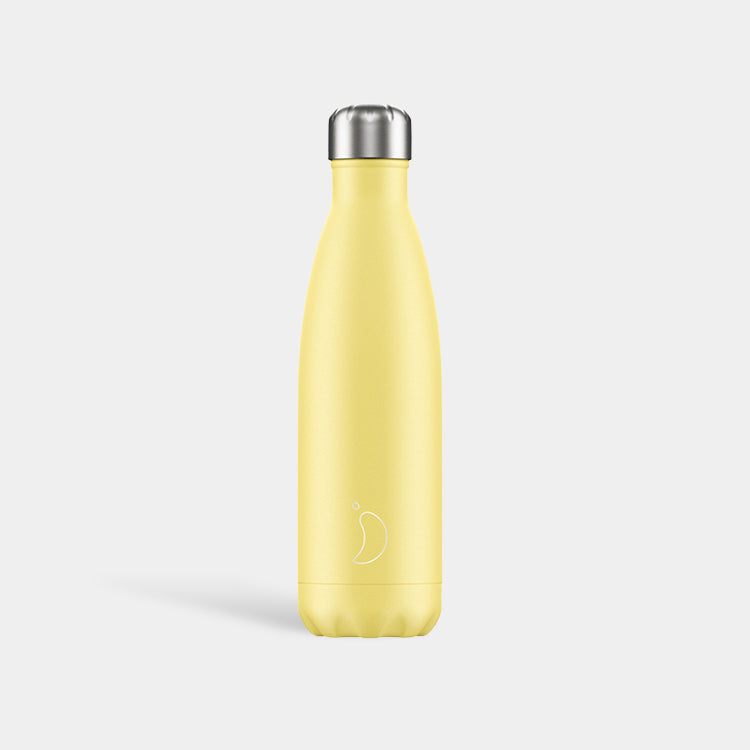 Chilly's Pastel Yellow Drinking Bottle 500ml