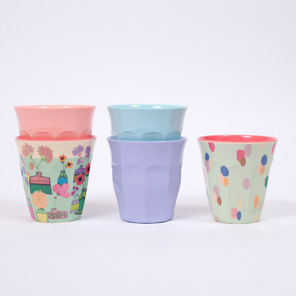 RICE Melamine Cups available from Roo's Beach UK