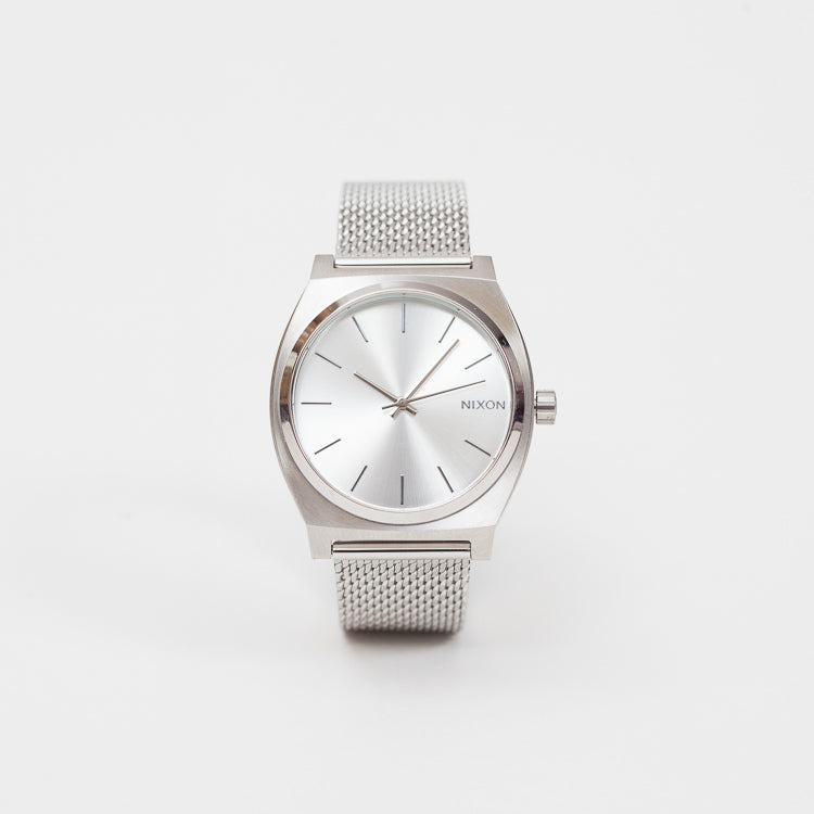 Product shot of the Nixon Time Teller Milanese Silver Watch