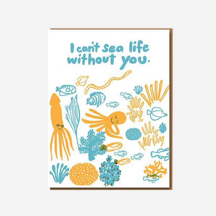Egg Press Can't Sea Life Greetings Card