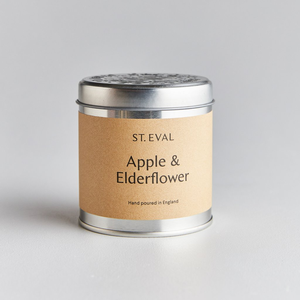 St. Eval Apple & Elderflower Scented Tin Candle