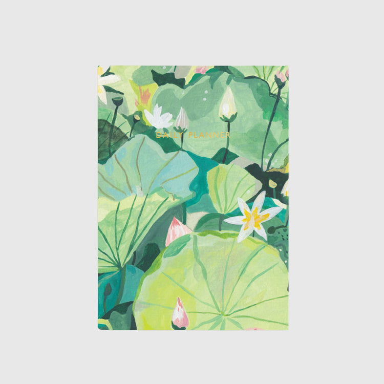 Ohh Deer Water Lilies Linen Daily Planner
