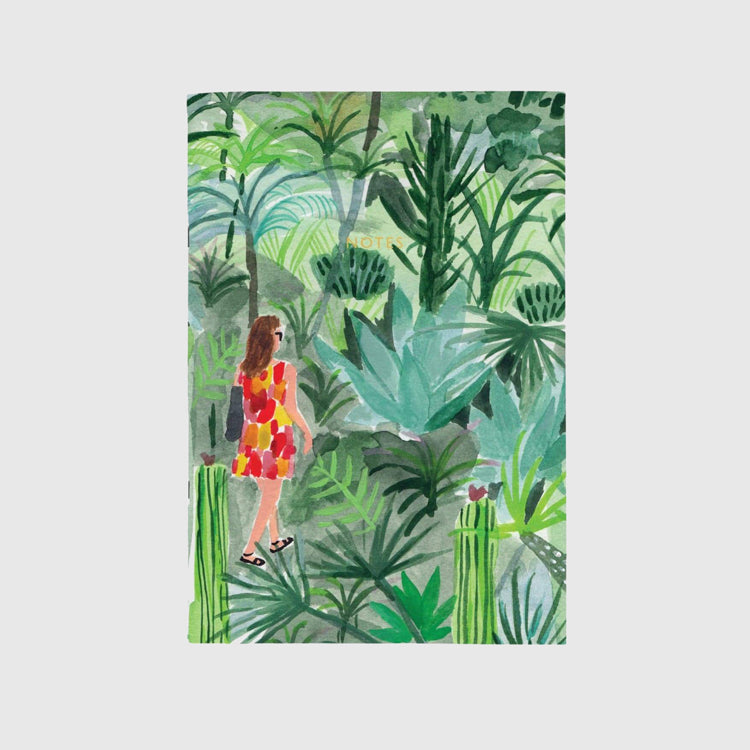 Ohh Deer Tropical Walk A4ish Notebook