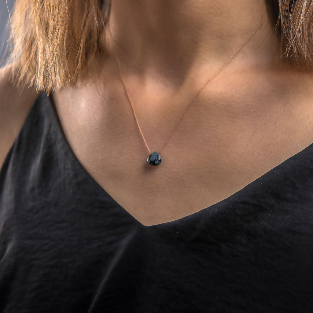 Wanderlust Life Obsidian Fine Chord Necklace