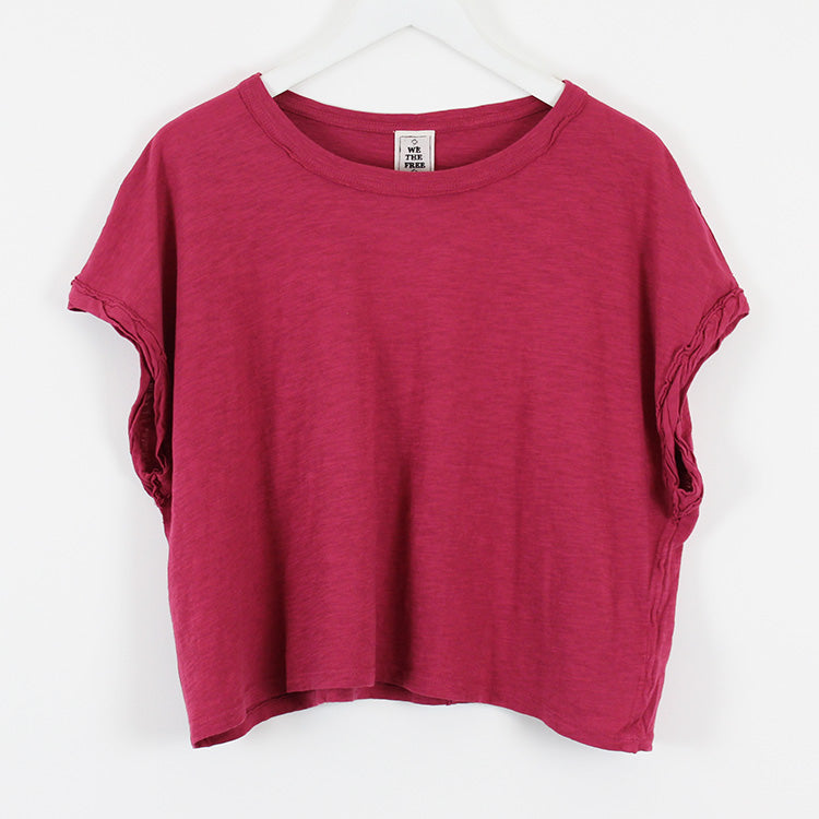 Free People You Rock Raspberry Tee