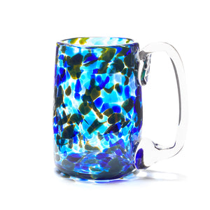 hand blown cobalt blue glass beer mug made in Canada