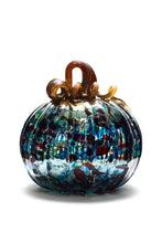 Load image into Gallery viewer, Glass, Glassblowing, Autumn, Pumpkin, Art, Thanksgiving, Harvest, Gray Art Glass