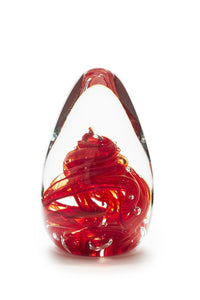 Tall Paperweight | Ruby Red