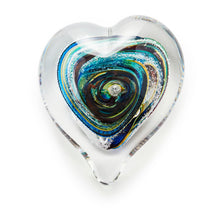 Load image into Gallery viewer, Heart memorial glass paperweight cremated ash Ontario Canada