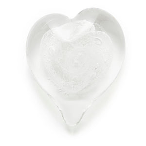 Clear Heart memorial glass paperweight cremated ash Ontario Canada