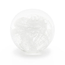Load image into Gallery viewer, Clear Glass memorial cremation ash paperweight Ontario Canada