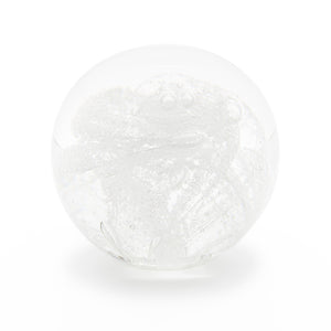 Clear Glass memorial cremation ash paperweight Ontario Canada
