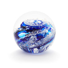 Load image into Gallery viewer, Cobalt Blue Glass memorial cremation ash paperweight Ontario Canada