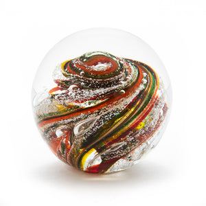 Autumn Glass memorial cremation ash paperweight Ontario Canada