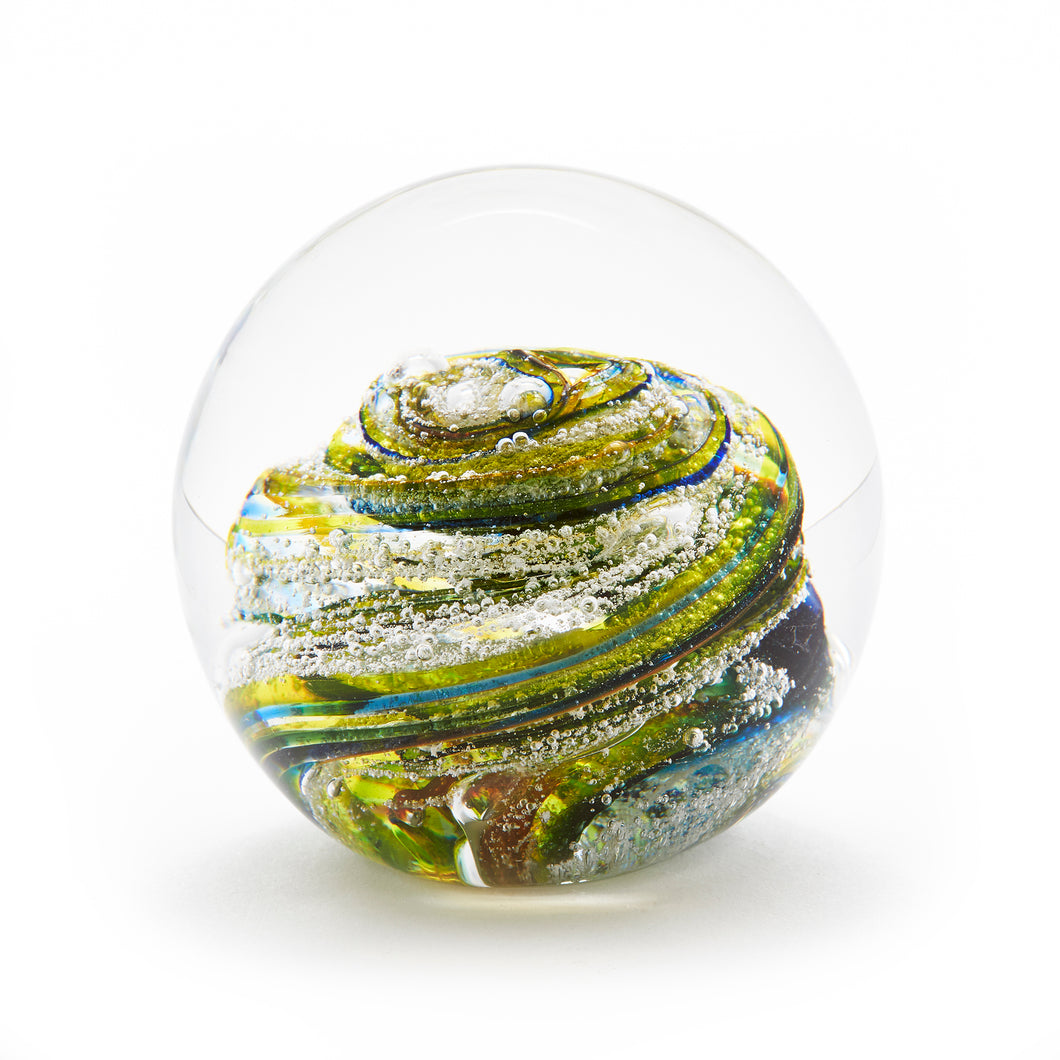 Summer Glass memorial cremation ash paperweight Ontario Canada