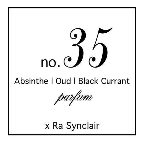 Fragrance no. 35 Black Currant + Oud