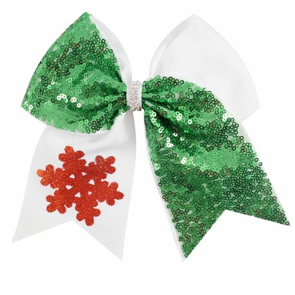 "7"" Sequine Christmas Cheer Bow"