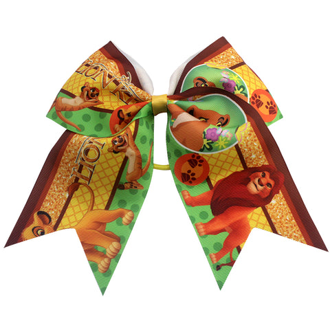 7 Inch Halloween cheer bows Lion king hair bows White yellow green  Swallow tail bows  cartoon hair bow  Boutique Handmade bows