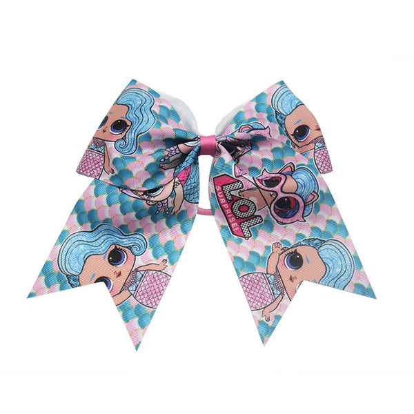 new 7 inch printingBows for girls