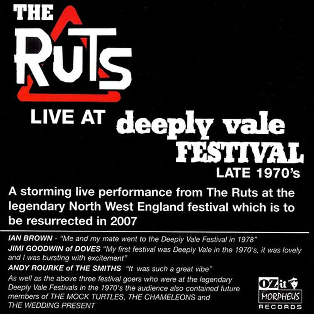 The Ruts 'Live at Deeply Vale 1978' - Cargo Records UK
