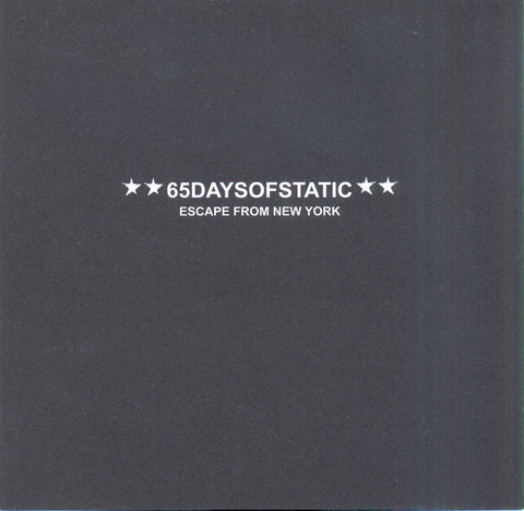 65daysofstatic 'Escape From New York' - Cargo Records UK