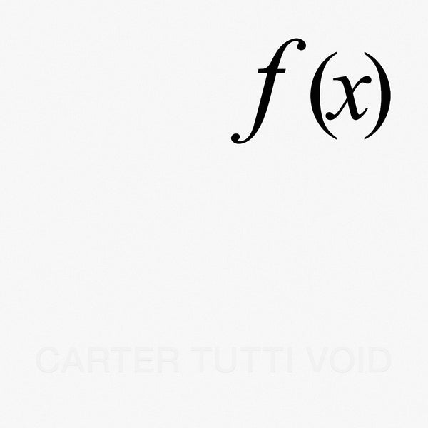 Carter Tutti Void 'f (x)' - Cargo Records UK - 1
