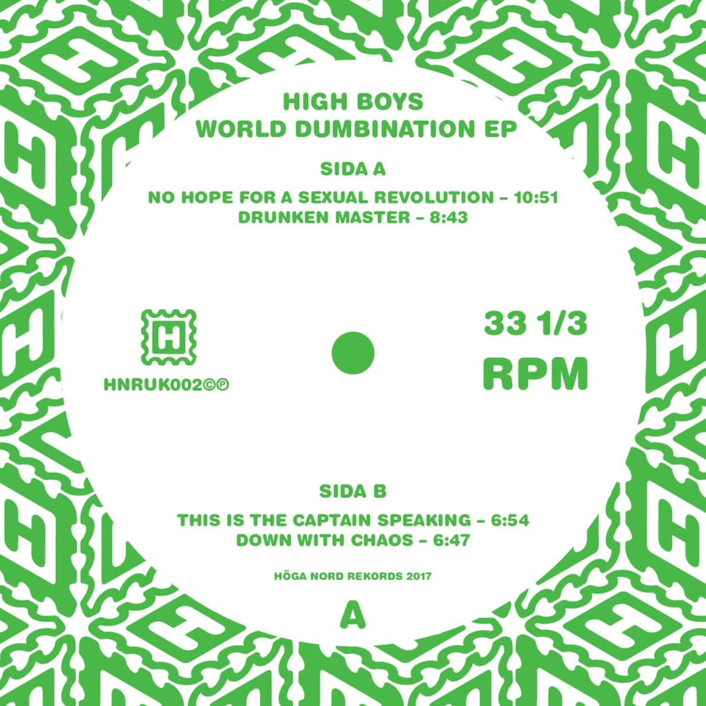 High Boys 'World Numbination EP' - Cargo Records UK