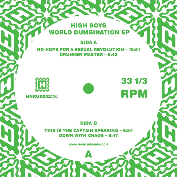 High Boys 'World Numbination EP' PRE-ORDER