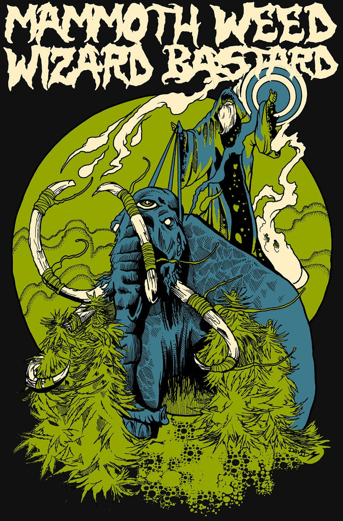Mammoth Weed Wizard Bastard 'Y Proffwyd Dwyll Limited T-Shirt' - Cargo Records UK - 1