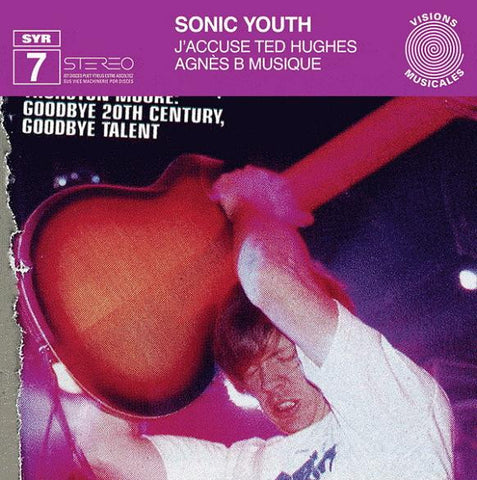 Sonic Youth ‎'J'accuse Ted Hugues' - Cargo Records UK