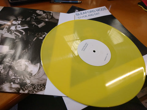 Sleaford Mods 'Divide And Exit' Yellow Vinyl - Cargo Records UK