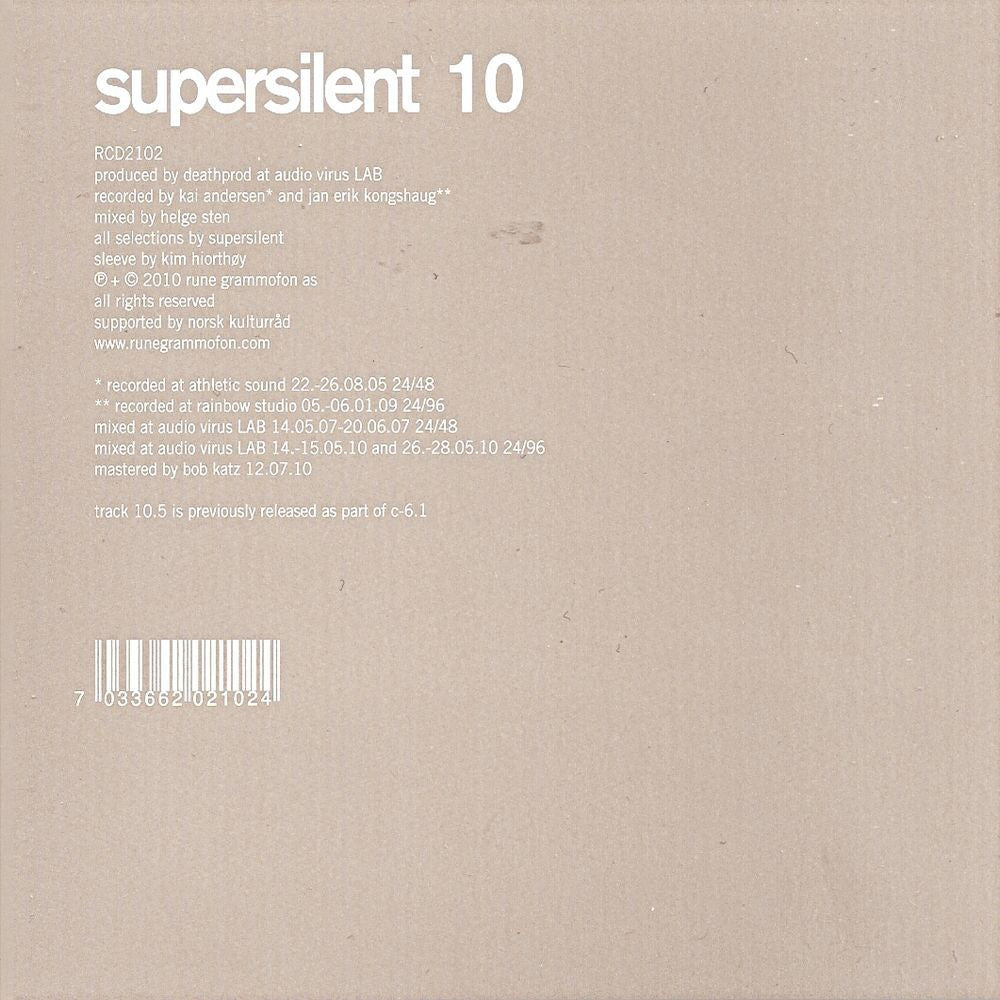 Supersilent '10' - Cargo Records UK