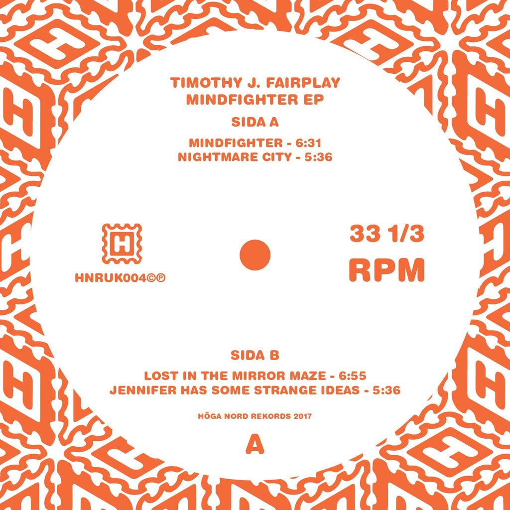 Timothy J. Fairplay 'Mindfighter EP' - Cargo Records UK
