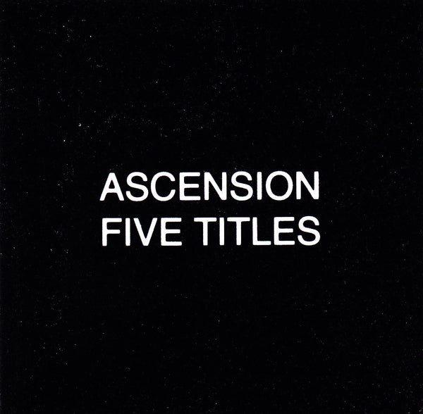 Ascension 'Five Titles' - Cargo Records UK