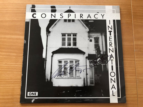 Chris & Cosey + Glenn M Wallis 'Conspiracy International One' Vinyl LP Signed by Chris & Cosey