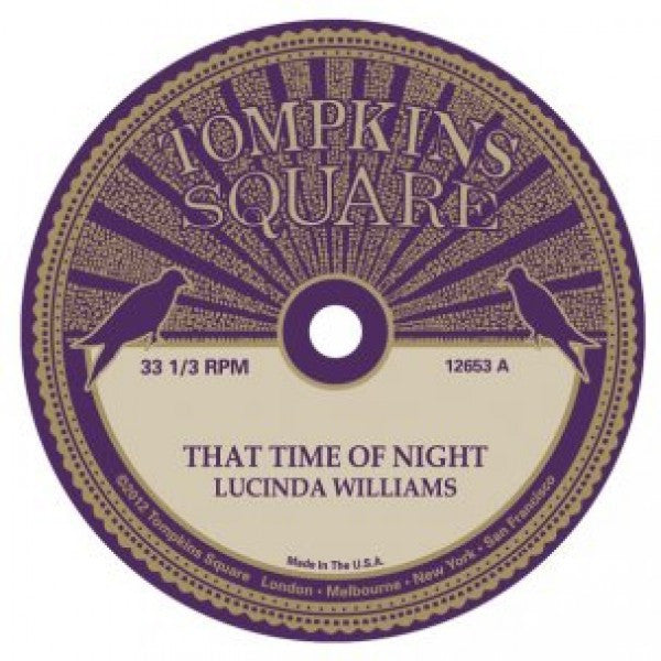 Lucinda Williams / Michael Chapman 'That Time Of Night' - Cargo Records UK