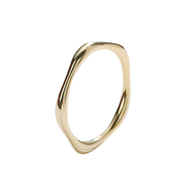 Simply Stackable Sterling Silver Plated Gold Ring