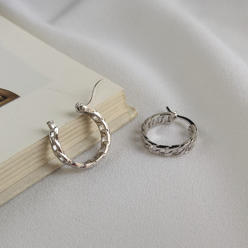 Creative Hollow Sterling Silver Plated Gold & Platinum Earring