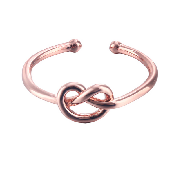 Infinity Love Sterling Silver Ring Heart Adjustable Ring-TL-Juri Elle