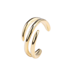 Irregular Lines Sterling Silver Plated Gold Ear Clip