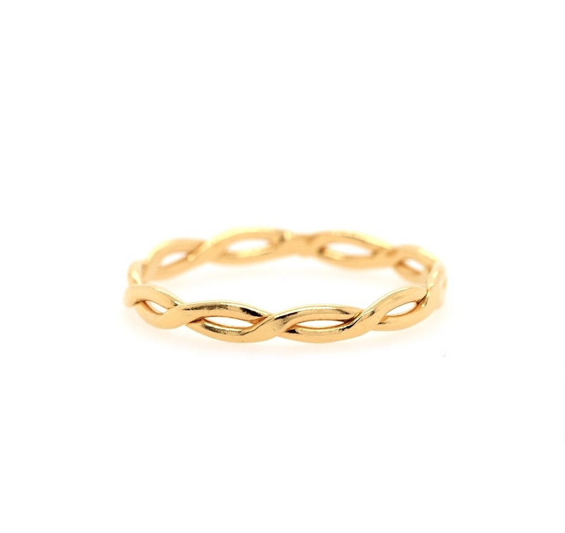 Braided Skinny Ring Gold-J&CO-Juri Elle